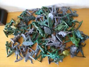 Job Lot Vintage Plastic Hong Kong Soldiers X 64 bundle