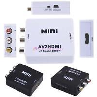 Mini Composite AV CVBS 3RCA to HDMI Converter Adapter 720p 1080p Upscaler FA