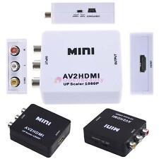 Mini compuesto AV CVBS 3rca a HDMI Adaptador Convertidor 720p 1080p Conversor RP