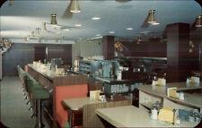 Providence RI Crown Hotel Coffee Shop Interior 50s Art Deco Postcard