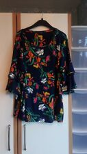 Ladies George navy floral print top size 20
