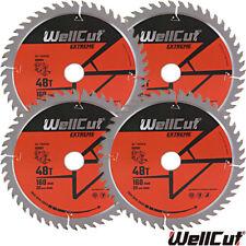 Wellcut EXTREME Lama TCT 160mm x 48T x 20mm foro per Festool TS55 Confezione da 4
