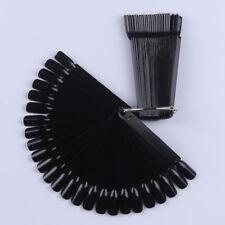 Consejos de uñas falsas 50Pcs completa polaco UV Gel Kit Conjunto de Manicura Pegatinas Negro Pantalla