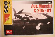 Aer Macchi M.205N-1 Improved version of Veltro Fighter SEM Models Resin 1/72
