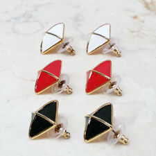 Joan Rivers Set of 3 Spectator Enamel Pyramid Button Earrings QVC $39 Sold Out!