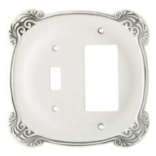 Switch Decorator Wall Plate Arboresque White Franklin Brass 144388