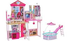 Barbie Complete Home Set - House and Pool + 3 Dolls and 3 Furniture Sets. New