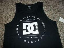 df366871a8ca9 DC Shoes Mens Sleeveless Tank Top Shirt Black White Medium Large XL 2xl  Regular M