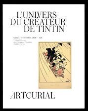 Catalogue Sale Aux Auction Band Comic Artcurial Hergé/Tintin 2016