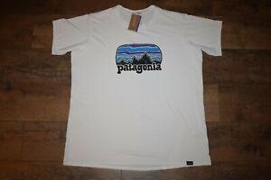 Patagonia Women's Capilene Graphic Tee 45250 Fitz Roy Far Out Size XL White NWT