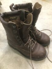 Browning Mens 6 Brown Leather Toe Lace Up Hunting Boots