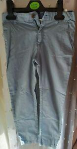 BOYS SIZE 6-7 YEARS BLUE LINEN STYLE SMART TROUSERS GOOD CONDITION