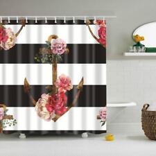 Fabric Bathroom Shower Curtain Liner- 180x180cm - Deadwood - Flower Anchor