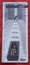 Vintage Leica Disto Hand Held Laser Meter Digital Distance Measure User Manual