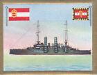 Linienschiff Line ship Babenberg Austria Hungary Navy Battleship FLAG CARD 30s