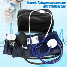 Professional Manual Blood Pressure Cuff Aneroid Sphygmomanometer w/ Stethoscope