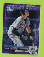 2017 Bowman Chrome Prospects Purple Shimmer - Brian Anderson (BCP184)  Yankees