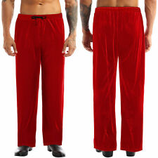 Mens Christmas Drawstring Pants Loose Trousers Pocket Cosplay Costume Bottoms