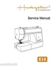Husqvarna Viking H class E10 Service manual & Parts / Schematics CD or Download