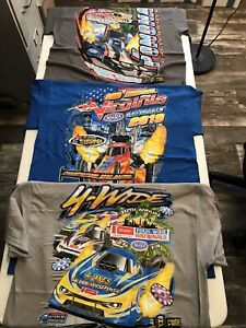 LOT OF 3  NHRA DRAG #1 RACING 2019 EVENT T- SHIRTS ALL 3 SIZE LARGE