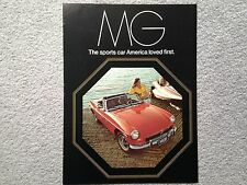 MG B, BGT & Midget 1973 Magazine Advertisement - Original - Very Good Condition