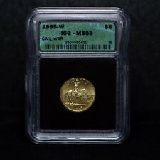 1995-W $5 Civil War Commemorative Gold Coin ICG MS69 (slx3796)