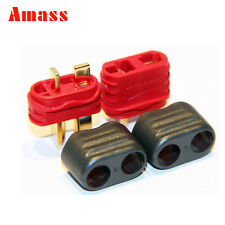 10 Pairs Amass T Deans Connector With Sheath Housing Male Female Lipo battery