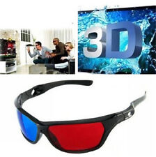 3D Glasses Red Blue Black Frame For Dimensional Anaglyph TV Movie DVD Game  F9