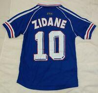 1998 France 10 Zidane retro classic soccer football home jersey t-shirt tw
