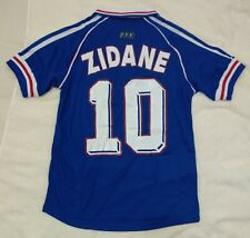 1998 France 10 Zidane retro classic soccer football home jersey t-shirt tw