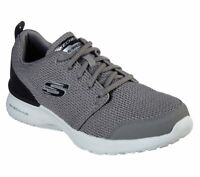 Skechers Charcoal Wide Fit Shoes Men Memory Foam Air Sport Casual Comfort 52787