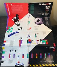 Vintage Rare World Cup USA 1994 Soccer Poster - Folded / Creased