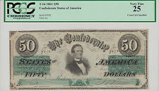 On Sale-Confederate States of America Type 16 PCGS VF-25 $50.00 Note