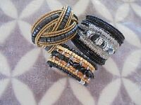 Lot 3 Assorted Styles Colors and Sizes Fashion Jewlery Bracelets    (4)