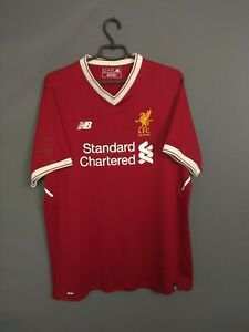 Liverpool Jersey 2017 2018 Domicile Taille XL Chemise Football New Balance