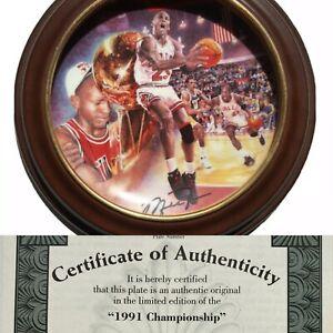 Michael Jordan 1991 Championship collectors plate Bulls upper deck
