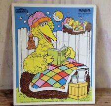 Vintage Playskool Big Bird Time Stories Sesame Street  Frame-Tray Puzzle