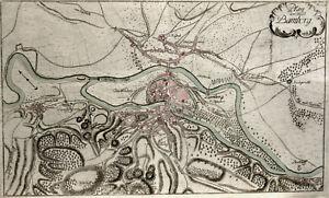 Bamberg, Plan, Bayern, Kupferstich von 1763 von Raspe