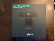 Logitech Brio 4k Pro Webcam - Black - New Sealed, IN HAND, SHIPS TODAY