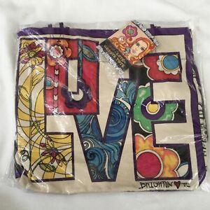 Brighton Love Groove II Canvas Beach-Shopping Tote Bag NWT