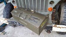 Boite outils militaire Caisse Lot de bord Mobilier industriel Jeep P4 Willys US