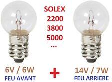 KIT AMPOULE AVANT ARRIERE SOLEX 330 660 1400 1700 2200 3300 3800 4600 5000 45CC