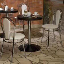 2er Set Gastronomie Sessel Stuhl Bar Küche Büro Bodengleiter Sitz beige Chrom