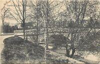 Indianapolis Indiana~Garfield Park~Stone Arch Bridge~Stream~1906 B&W Postcard