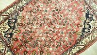 ANTIQUE VINTAGE HAND-KNOTTED P ORIGINAL KURDISH MALAYER TRIBAL WOOL RUG 3'X4'