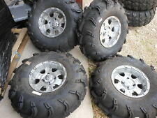 NEW STI G8 12x7 ITP Mud Lite 28 10 12 Wheel Rim Tire Set 4 2012 Rincon Grizzly