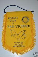 Vintage San Vicente Santa Fe Argentina Rotary International Club Banner Flag