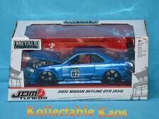 1:24 Jada - 2002 Nissan Skyline GT-R (R34) - Blue