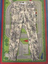 Zara Basic Jeans Reptil Beige Schwarz Optik Gr 36 Stretch Denim Leder Röhre 1A