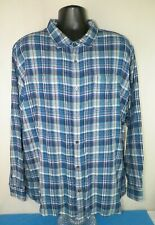 Carbon 2 Cobalt Men's Blue Plaid Check L/S Casual Flannel Lined Shirt Sz XXL #1